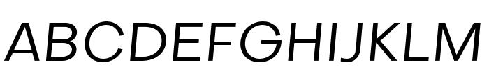 Objectivity-RegularSlanted Font UPPERCASE