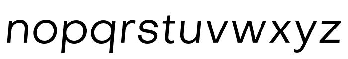 Objectivity-RegularSlanted Font LOWERCASE