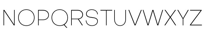Objectivity-Thin Font UPPERCASE