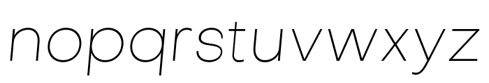 Objectivity-ThinSlanted Font LOWERCASE