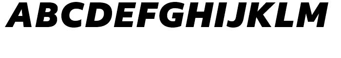 Objektiv Mk Black Italic Font UPPERCASE