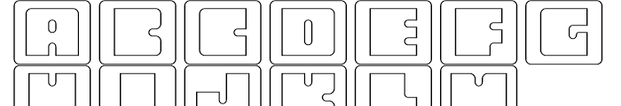 Oboe Outline Framed Font UPPERCASE