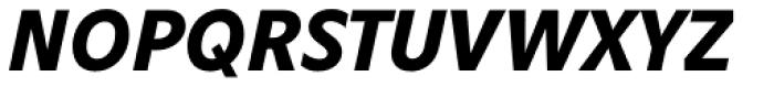 Obliqua Pro Bold Italic Font UPPERCASE