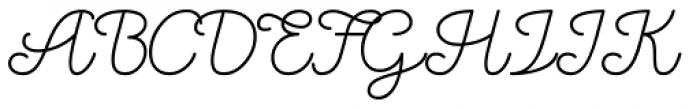 Oblique Rain Regular Font UPPERCASE