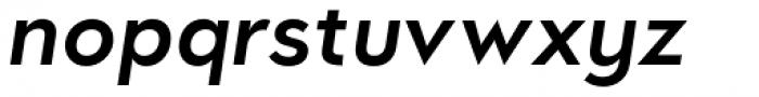 Oblivian Text Semi Bold Italic Font LOWERCASE
