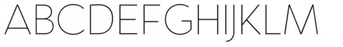 Oblivian Text Thin Font UPPERCASE
