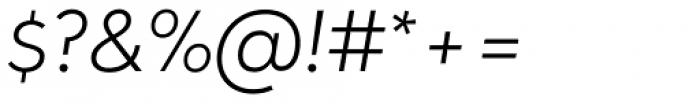 Oblivian Text Ultra Light Italic Font OTHER CHARS