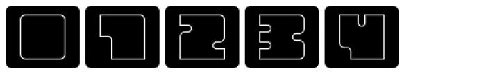 Oboe Outline Framed Font OTHER CHARS