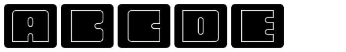 Oboe Outline Framed Font LOWERCASE