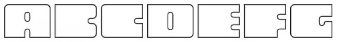 Oboe Outline Wide Font UPPERCASE