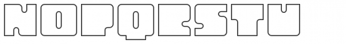 Oboe Outline Font UPPERCASE