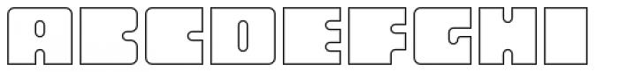 Oboe Outline Font LOWERCASE