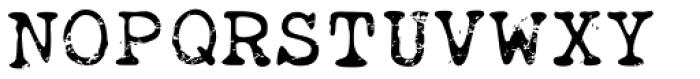 Obsolete Alternate Font UPPERCASE