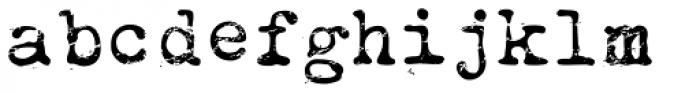 Obsolete Alternate Font LOWERCASE
