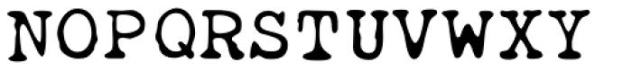Obsolete Font UPPERCASE