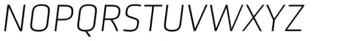 Obvia Thin Italic Font UPPERCASE