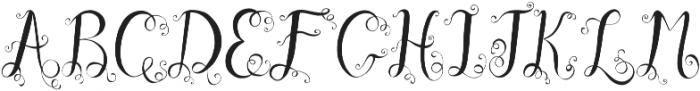 Ocean Waves monogram otf (400) Font UPPERCASE