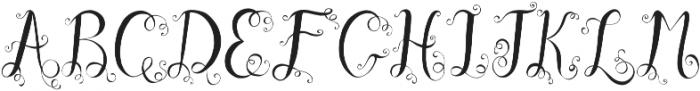 Ocean Waves monogram otf (400) Font LOWERCASE