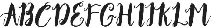 Ocean Waves  otf (400) Font UPPERCASE