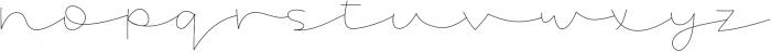 Ocean otf (400) Font LOWERCASE