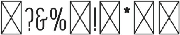 Oceantide Display Regular otf (400) Font OTHER CHARS