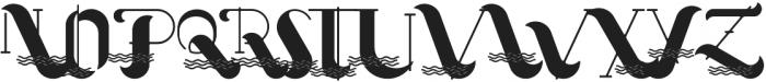 Oceantide Display Regular otf (400) Font UPPERCASE