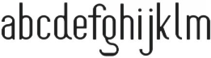 Oceantide Display Regular otf (400) Font LOWERCASE