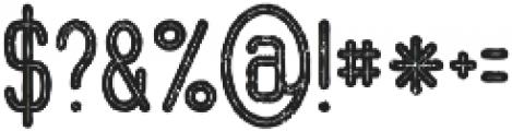 Ocela Inline Grunge otf (400) Font OTHER CHARS