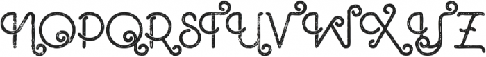 Ocela Inline Grunge otf (400) Font UPPERCASE