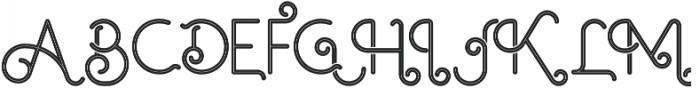 Ocela Inline otf (400) Font UPPERCASE