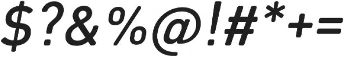 Octanis SansRounded Italic otf (400) Font OTHER CHARS
