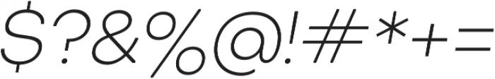 Octarine ExtraLight Oblique otf (200) Font OTHER CHARS