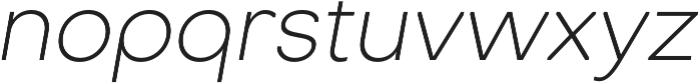 Octarine ExtraLight Oblique otf (200) Font LOWERCASE