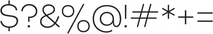 Octarine ExtraLight otf (200) Font OTHER CHARS