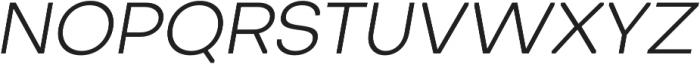 Octarine Light Oblique otf (300) Font UPPERCASE