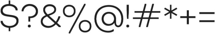 Octarine Light otf (300) Font OTHER CHARS