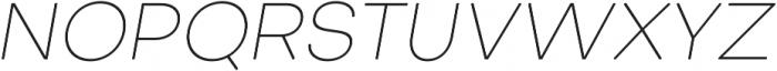 Octarine Thin Oblique otf (100) Font UPPERCASE