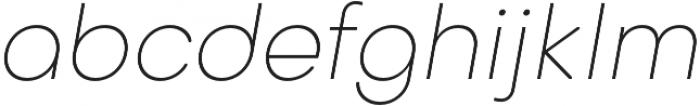 Octarine Thin Oblique otf (100) Font LOWERCASE