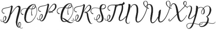 Octavia Script otf (400) Font UPPERCASE