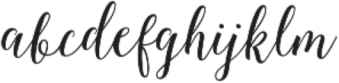 Octavia Script otf (400) Font LOWERCASE