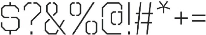 Octin Stencil Light otf (300) Font OTHER CHARS