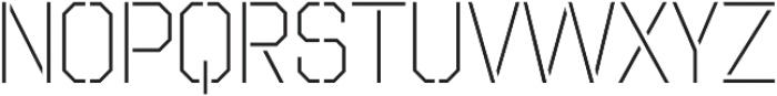 Octin Stencil Light otf (300) Font UPPERCASE