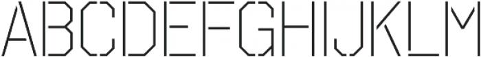 Octin Stencil Light otf (300) Font LOWERCASE