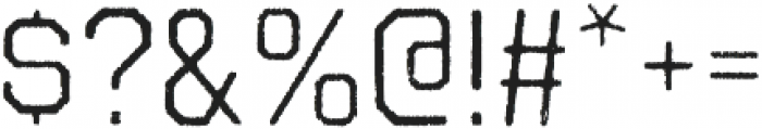 Octin Vintage A Regular otf (400) Font OTHER CHARS