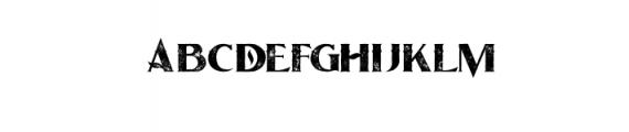OceanGrunge.otf Font UPPERCASE