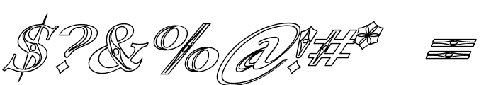 Occoluchi Italic Outline Font OTHER CHARS