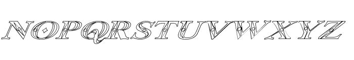 Occoluchi Italic Outline Font LOWERCASE