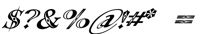 Occoluchi Italic Font OTHER CHARS