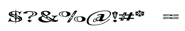 Occoluchi Spread Font OTHER CHARS