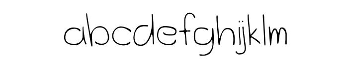 OceanCityPark-Regular Font LOWERCASE